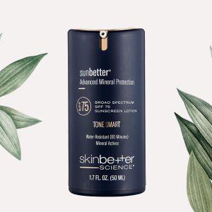 sunbetter TONE SMART SPF 75 Sunscreen Lotion skinbetter science