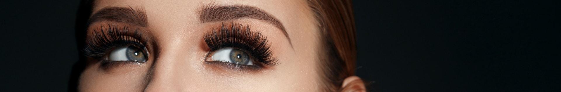 Beautiful woman's eyebrows