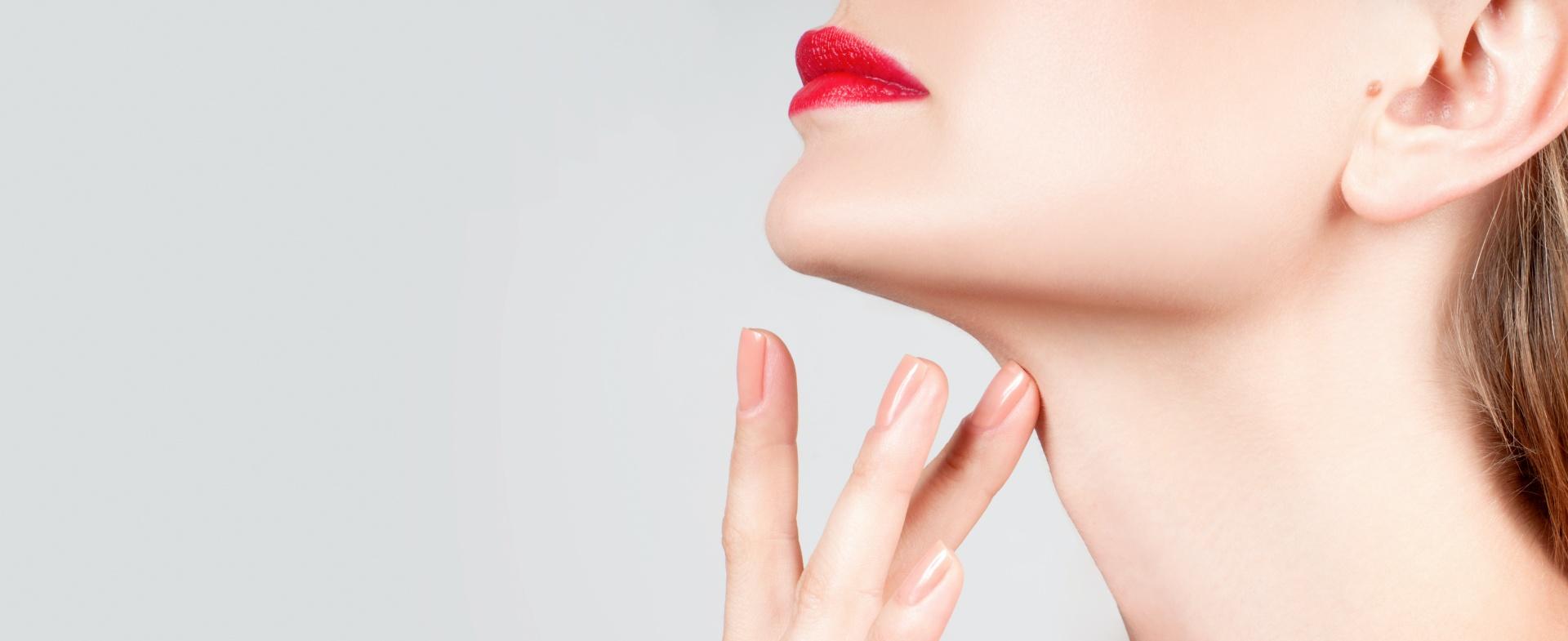Kybella, beautiful woman's neck