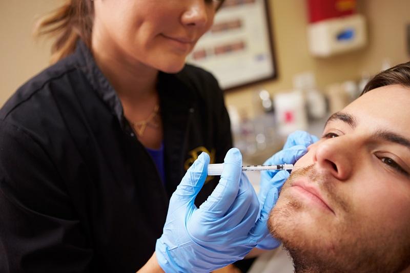 Botox for men - treatment