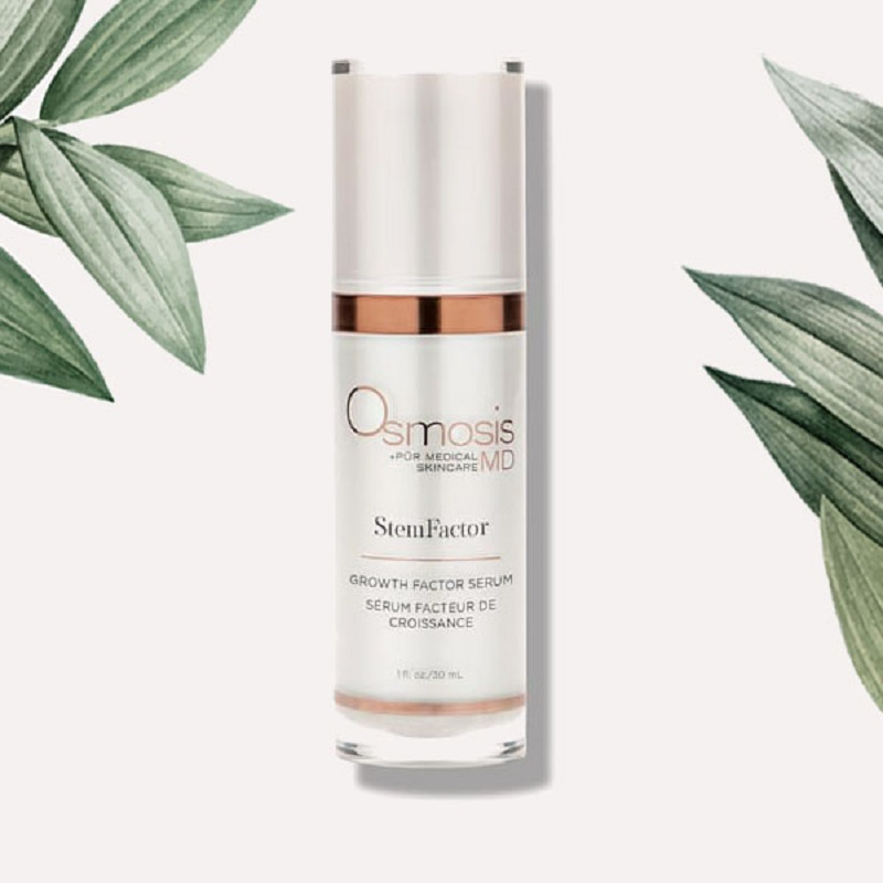 Osmosis MD StemFactor summer skin care growth factor serum for hydration and protection against free radicals.