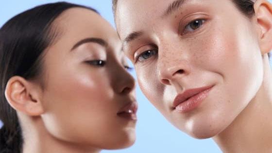 Dermal Fillers - Two beautiful women with full lips